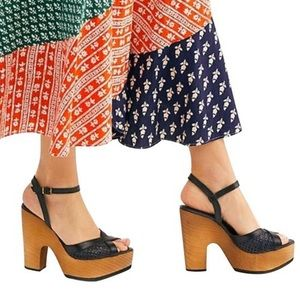 FREE PEOPLE Rendezvous Platform Wedge Sandals